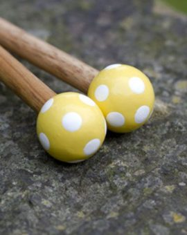 Art Viva Knitting Needles Yellow