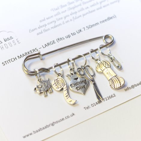 Baa Baa Brighouse Stitch Markers – up to 7.5mm