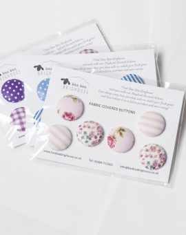Pink Fabric Button Selection
