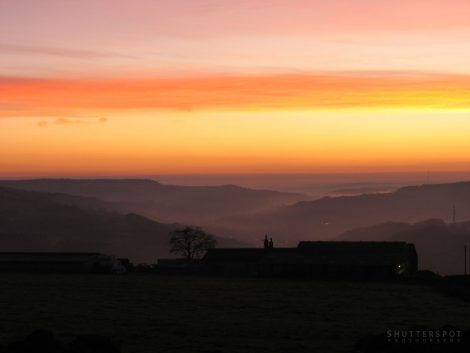 Sunrise over the Calder Valley