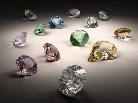 diamond-coloured